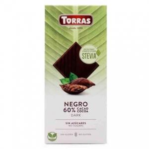 CHOCOLATE 60% C/STEVIA 100G...